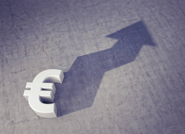 Foreshadowing: Rising Value of the Euro Currency stock photo
