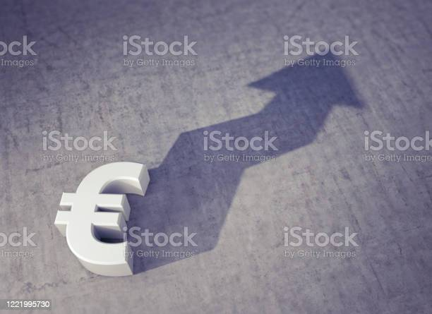 Foreshadowing Rising Value Of The Euro Currency Stock Photo - Download Image Now