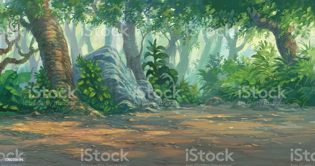 Bosque de pintura digital foto de stock libre de derechos