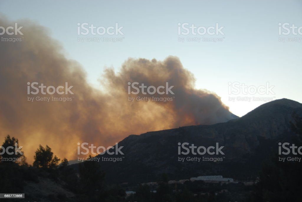 Waldbrand in Spanien royalty-free stock photo