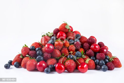 841659594 istock photo Forest fruit berries overhead assorted mix 981906464