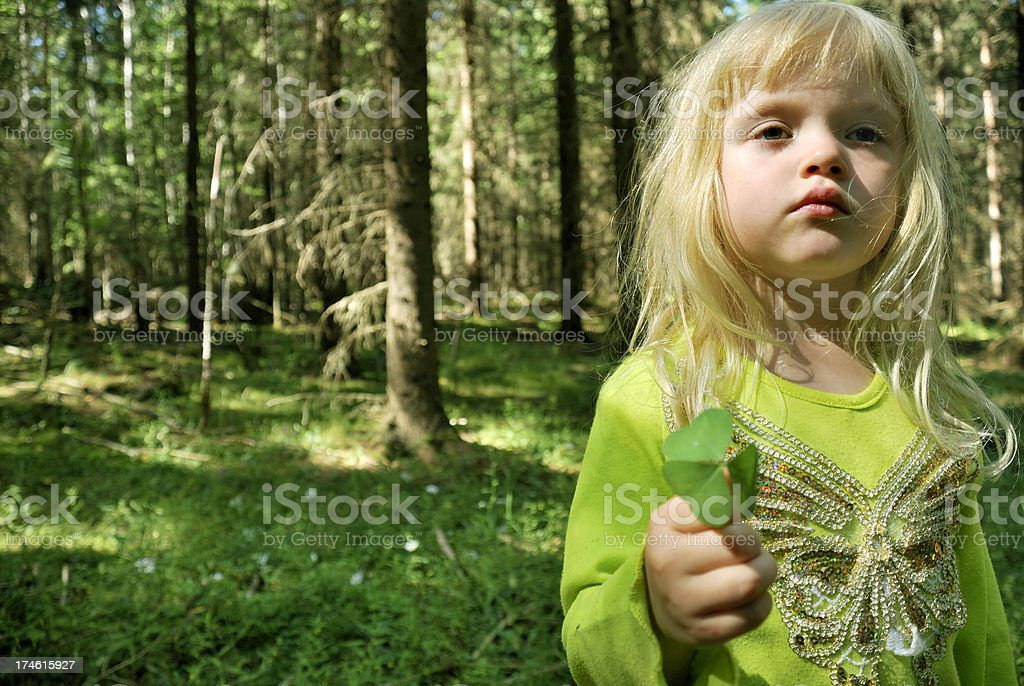 Forest girl royalty-free stock photo