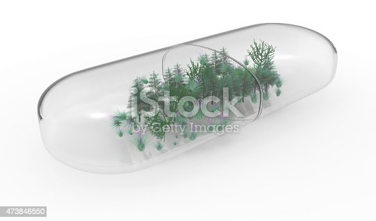 istock Forest inside the capsule, glass pill 473846550