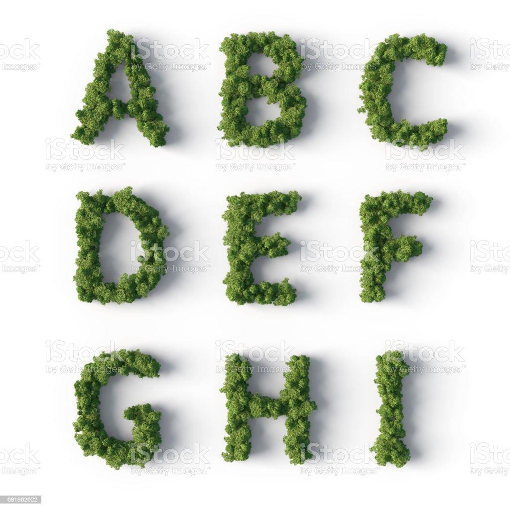 Orman harfler stok fotoğrafı