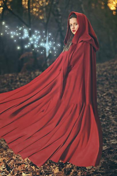 forest magic - damen umhänge stock-fotos und bilder