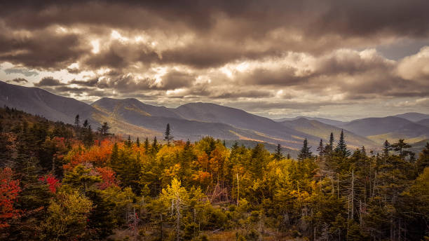 Forest of New Hampshire Scenic view of the White mountains conway new hampshire stock pictures, royalty-free photos & images
