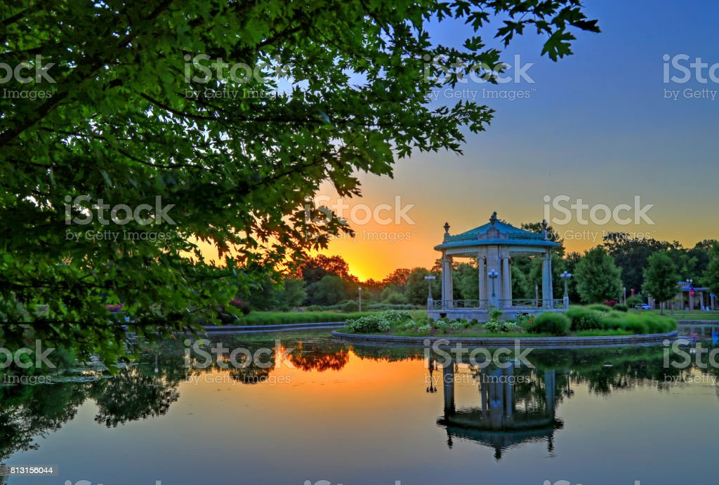 Forest Park Bandstand in St. Louis, Missouri stock photo