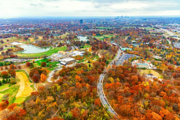 Forest Park - St. Louis stock photo