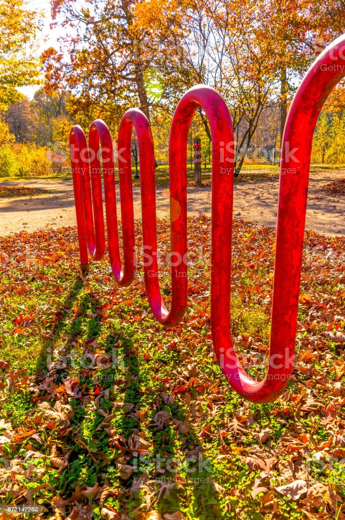 Forest Preserve Fall Colors stock photo