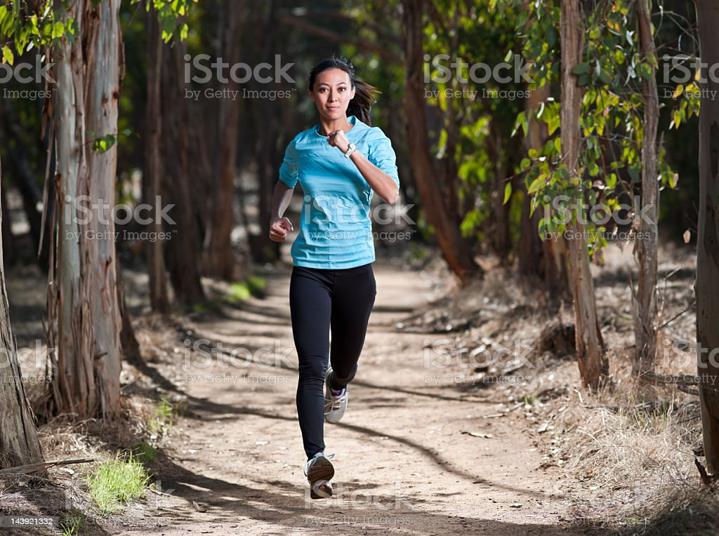 Forest Runner royalty-free stock photo