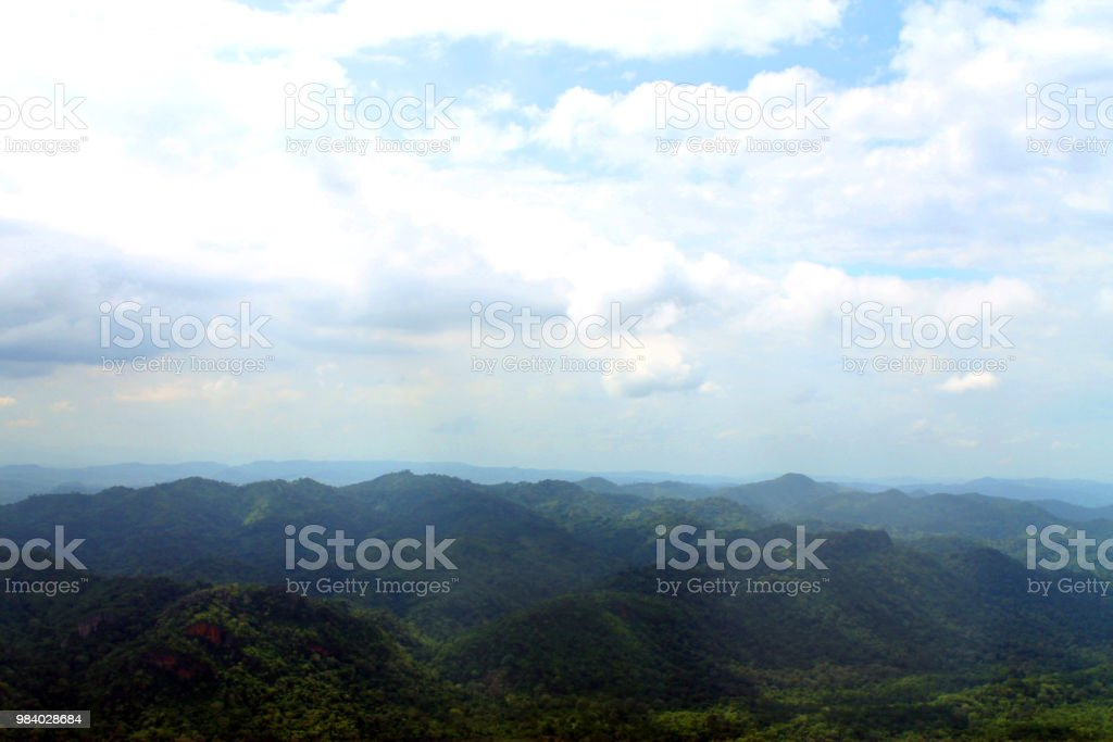Forest Scape And Mountain View From Top Of Cliff Sut Phaendin Cliff
