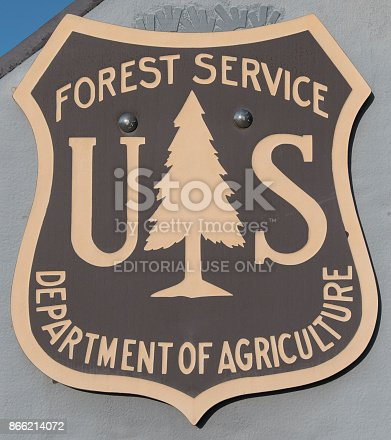 July 20th, 2017: US Forest Service Emblem at park area