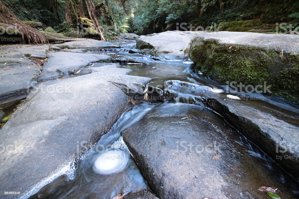 Forest stream and rockpool long exposure royalty-free stock photo