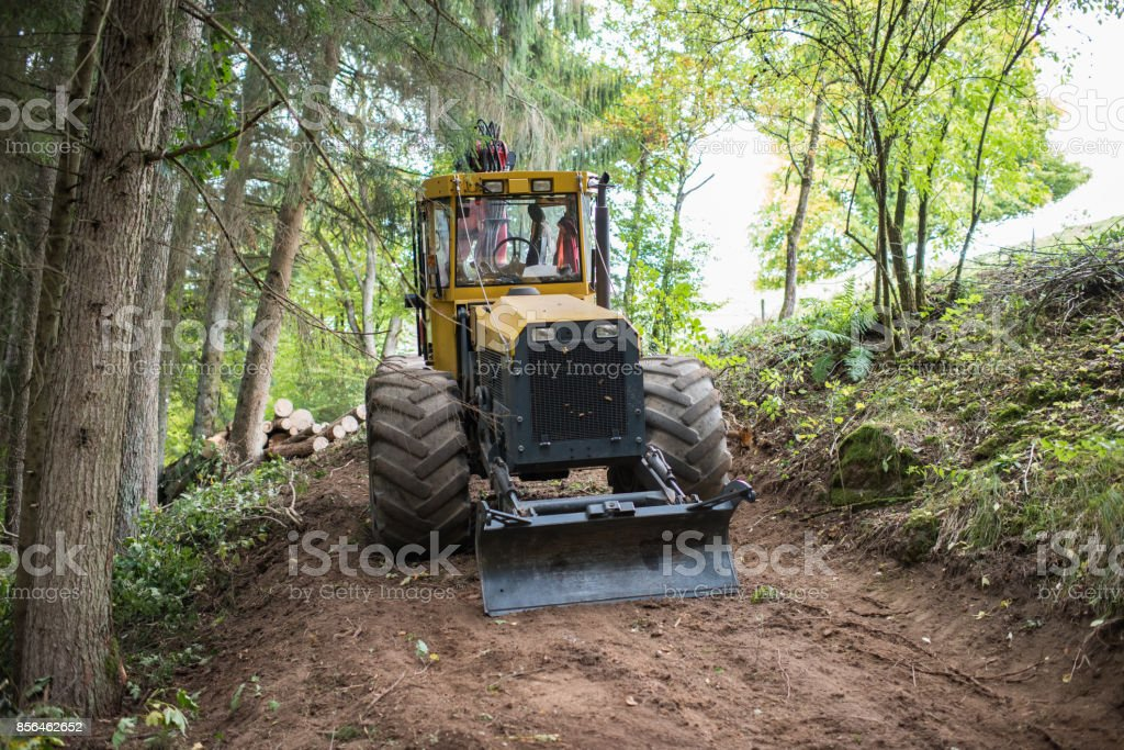 forestry machine stock photo