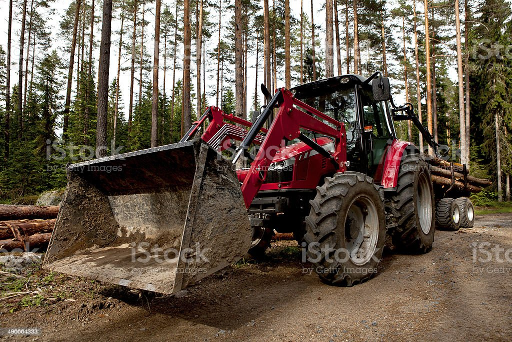 forestry tracktor stock photo