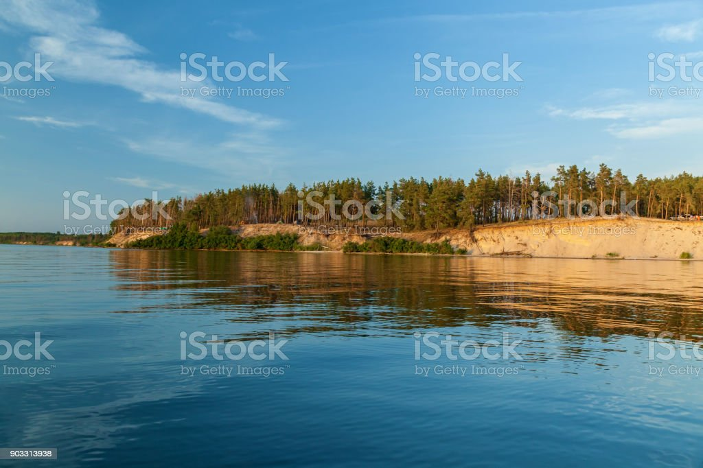 Forests along the coast. stock photo
