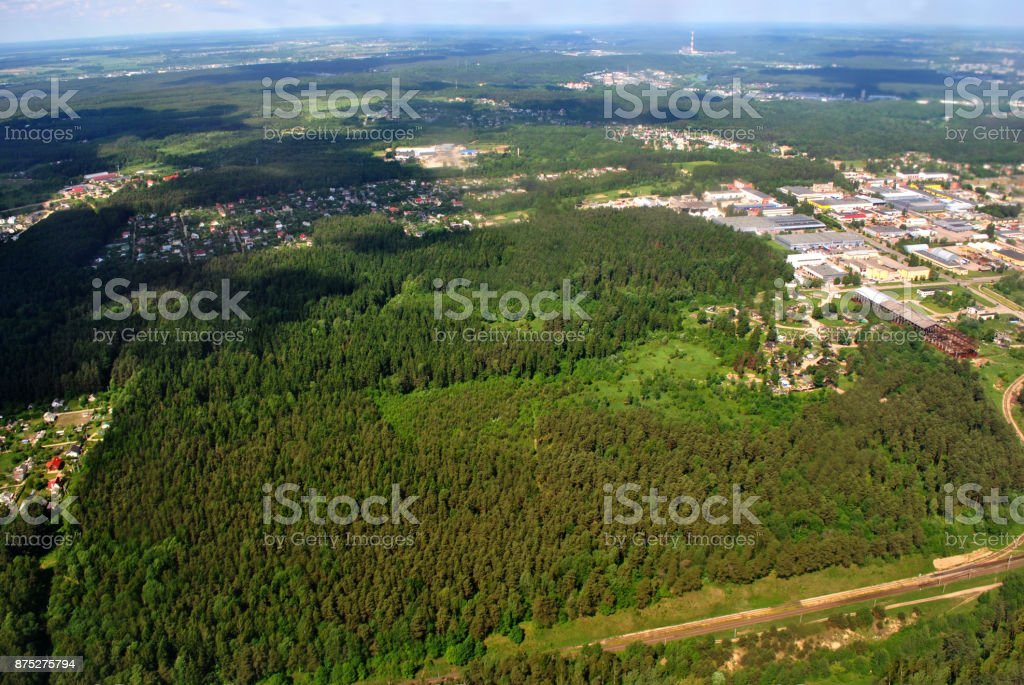 Forests & Houses. stock photo