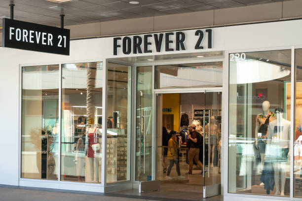 Forever 21 Retail Store Exterior and Trademark Logo stock photo