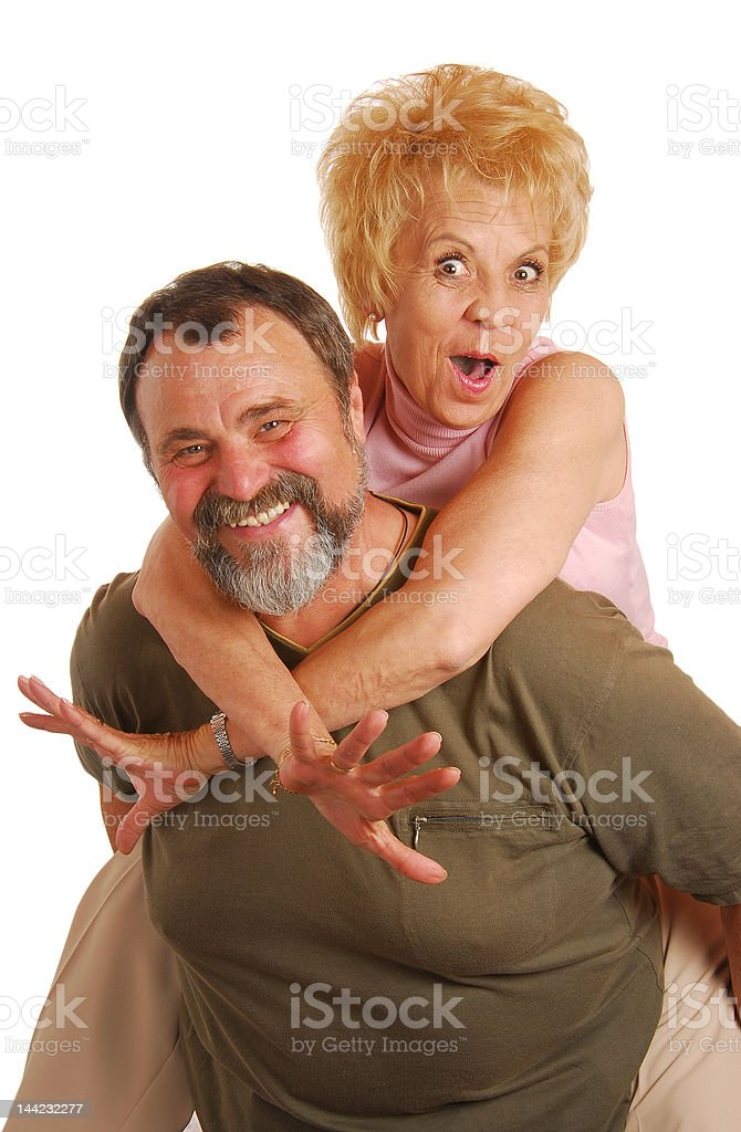 Forever funny grandparents royalty-free stock photo