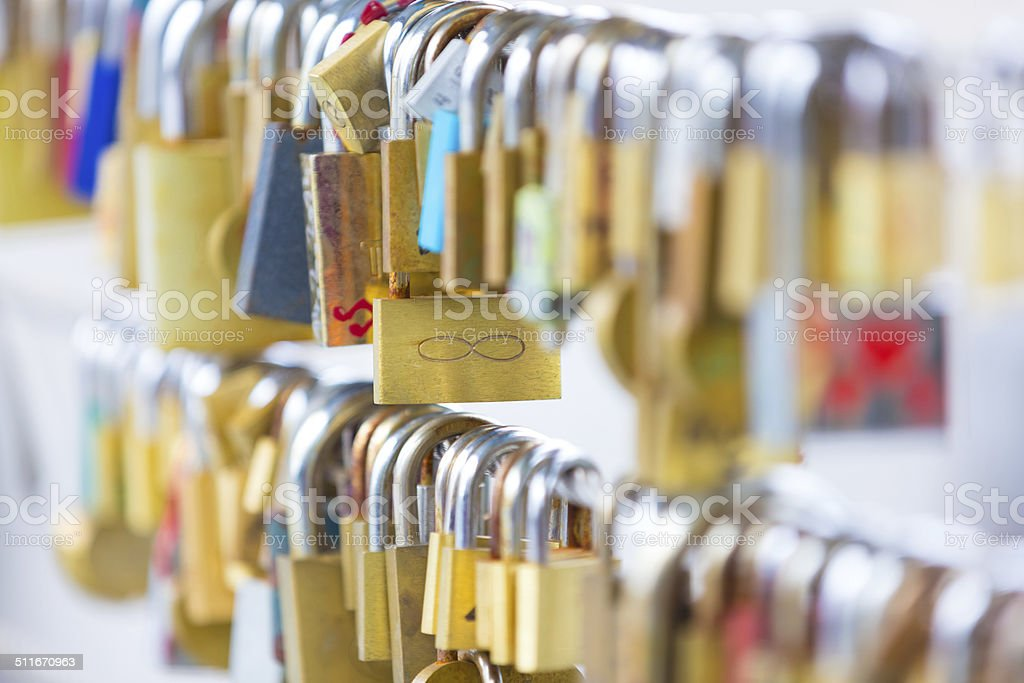 Forever love lockers. royalty-free stock photo