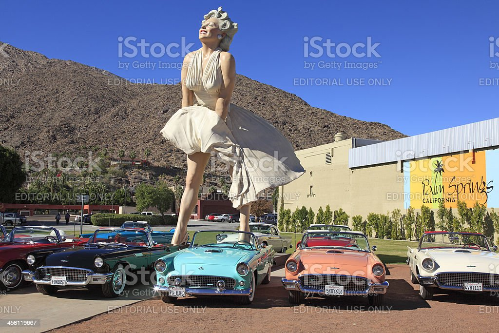 Forever Marilyn A Palm Springs Icon And Tourist Attraction stock photo