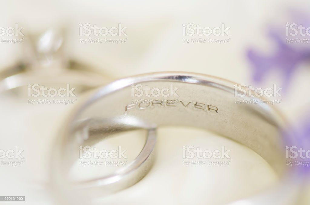 Forever Wedding Ring stock photo
