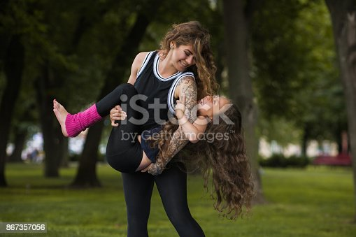 istock Forever young and happy. Fun activity 867357056