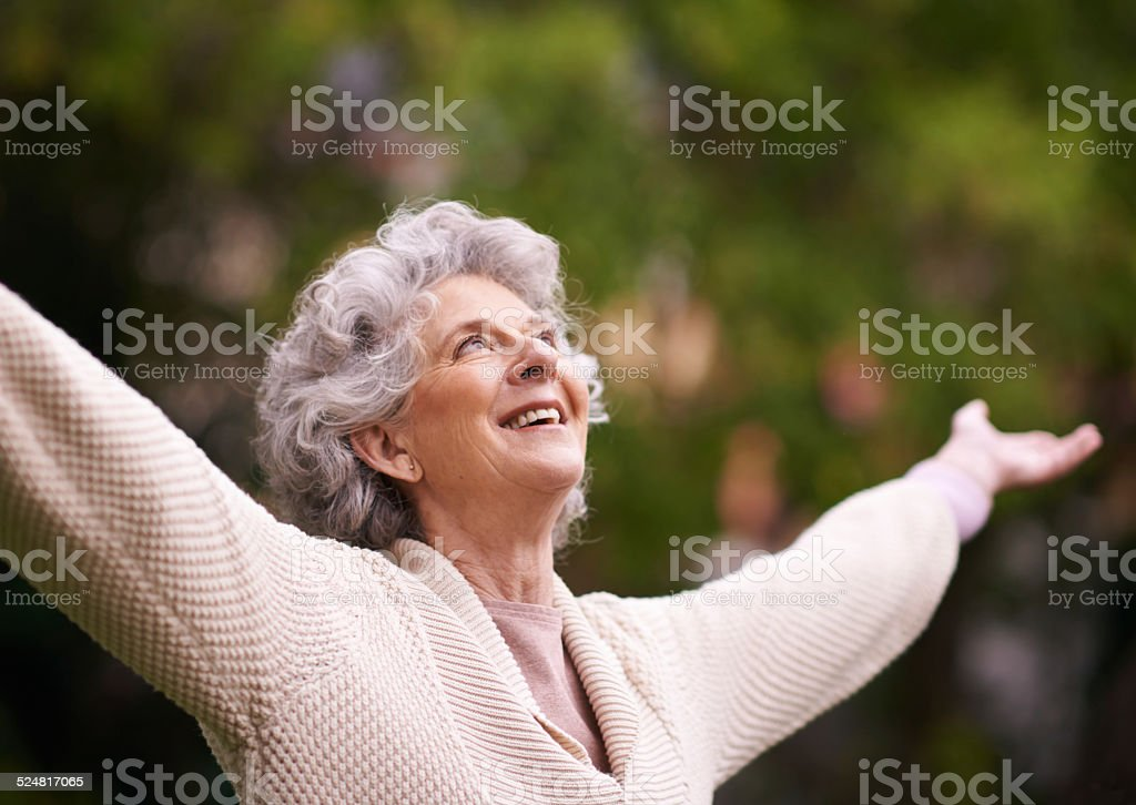 Forever young at heart stock photo