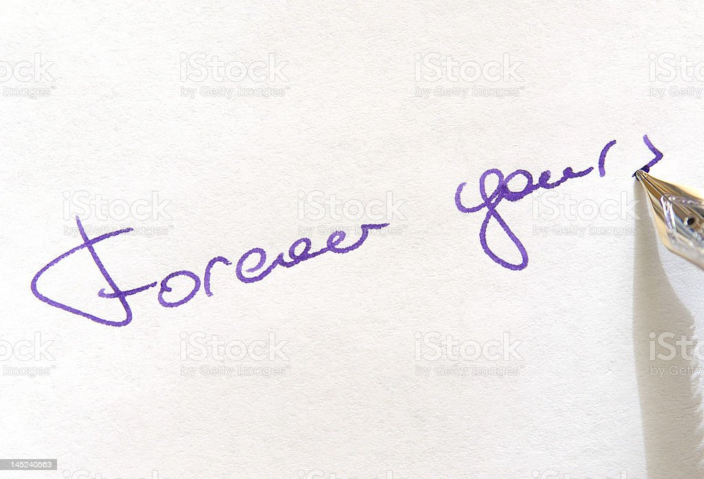 Forever yours royalty-free stock photo