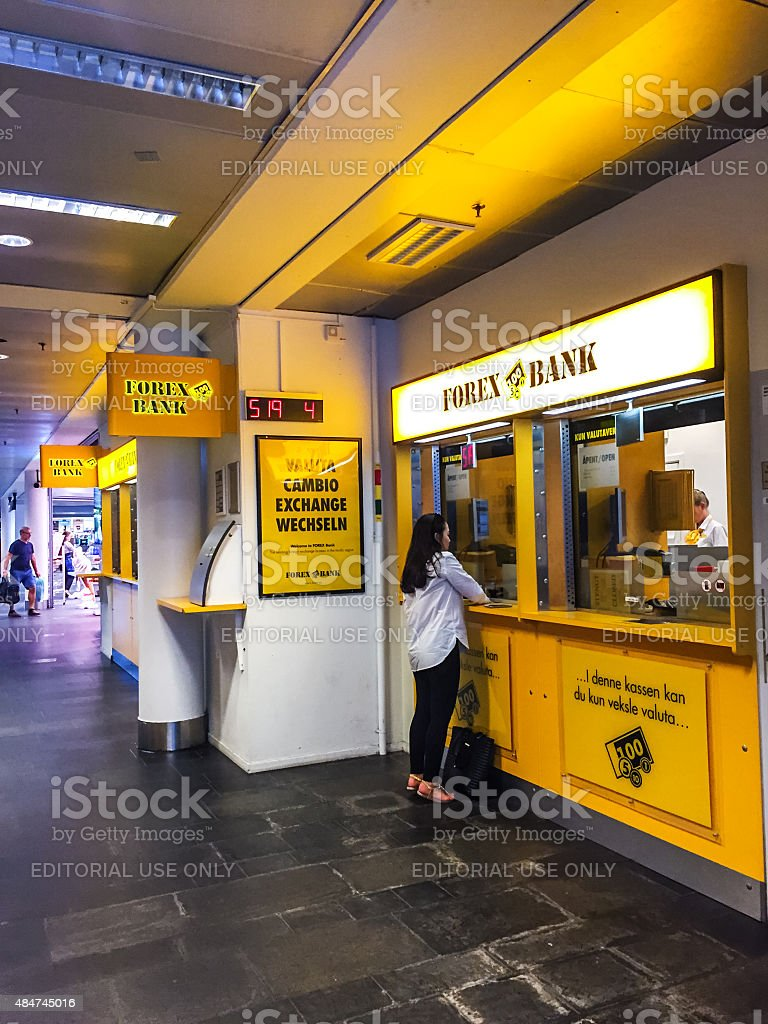 Forex Bank Kiosk At Oslo Central Train Station Stock Photo