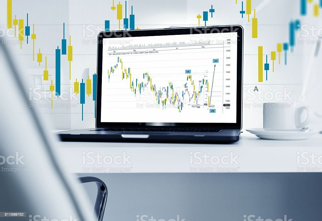 Forex Broker Workstation stock photo