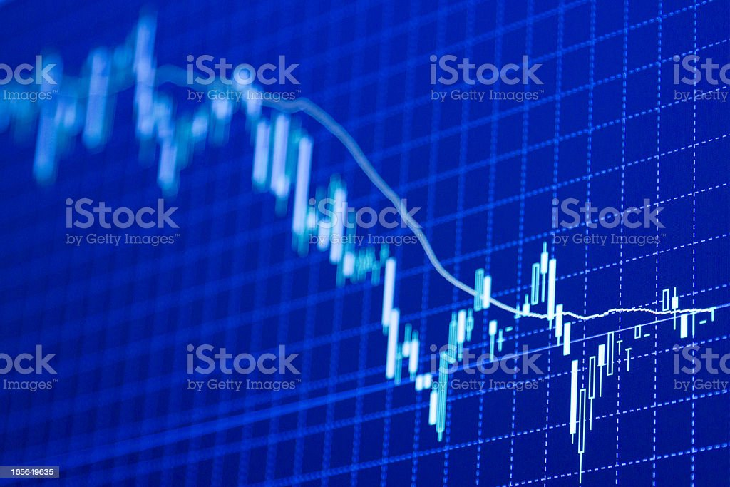 forex charts stock photo