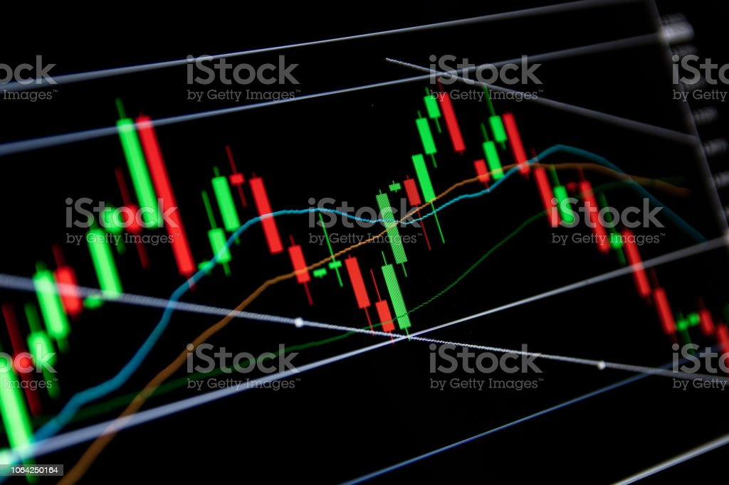 Forex Concept Candlestick Chart Red Green In Financial Market For