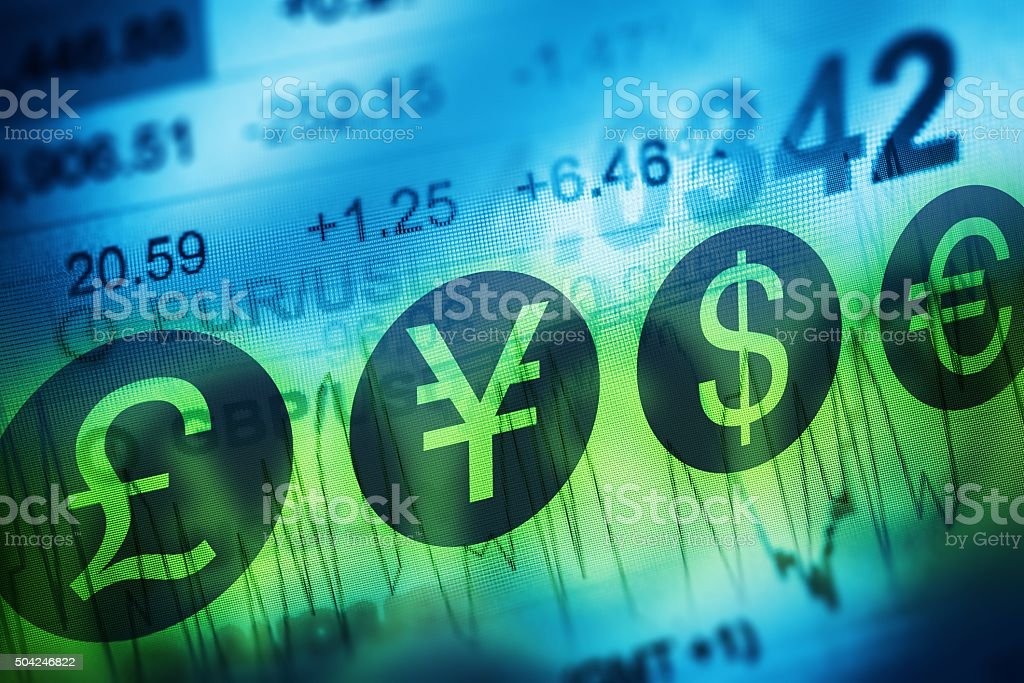 Forex Currency Trading Concept stock photo