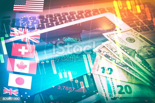 istock Forex Markets Currency Trading Concept. 609801990