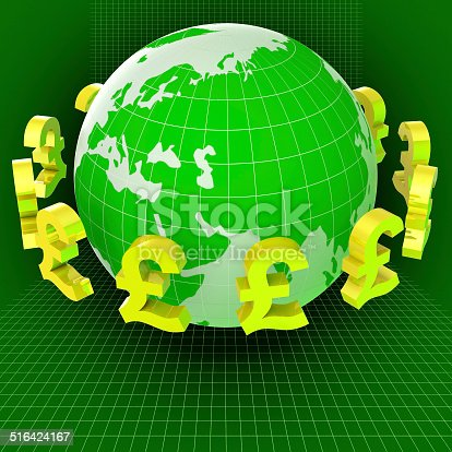 Pounds Forex Representing Exchange Rate And Foreign