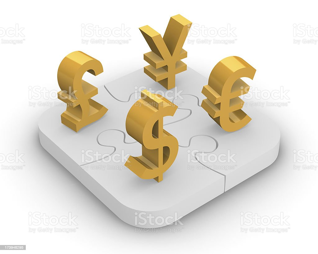 Forex puzzle royalty-free stock photo