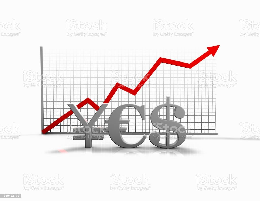 Forex Trading And Money Exchange Idea With Currencies Symbols And