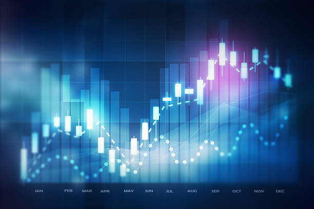 forex trading background stock photo