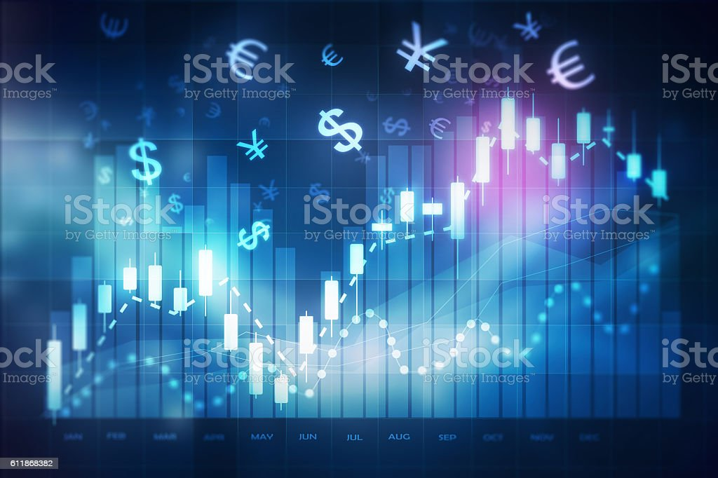 forex trading chart stock photo