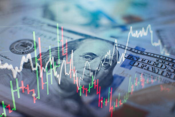 forex trading graph and candlestick chart suitable for financial investment concept. Economy trends background for business idea and all art work design. Abstract finance background. market trading which including of Corporate, Fix income, Bond valuation, Government bond, Secularization and Municipal. Wealth management with risk diversification concept. stock market stock pictures, royalty-free photos & images
