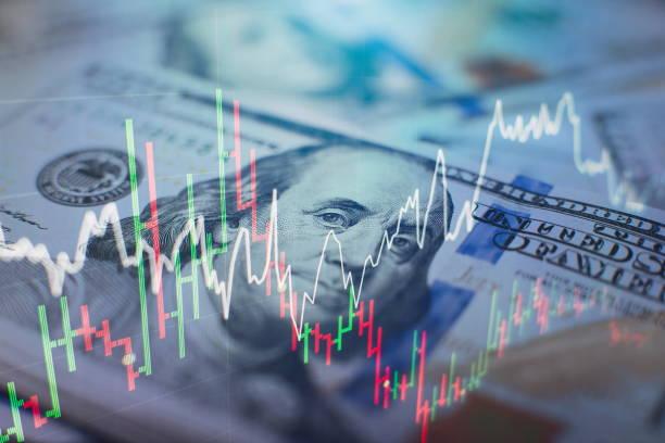 適用于金融投資概念的外匯交易圖表和燭臺圖。經濟趨勢背景的商業理念和所有藝術作品的設計。抽象財務背景。 - 股票 個照片及圖片檔