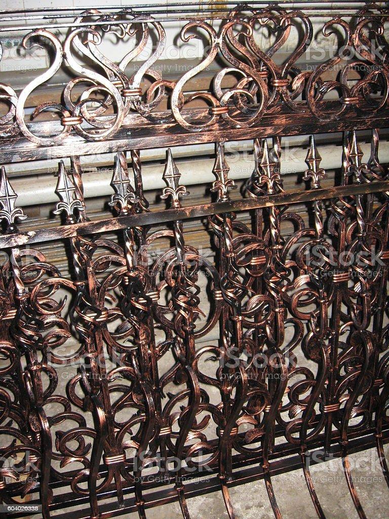 forged metallic balustrade - foto de stock