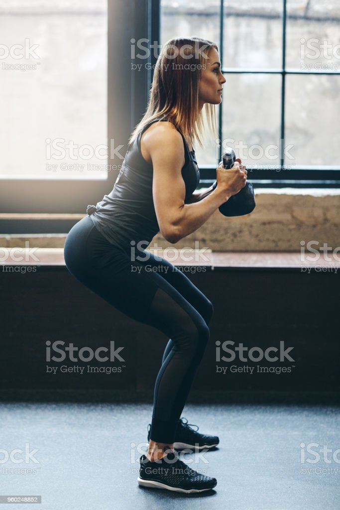 Forget summer body, she's all about that all year body stock photo