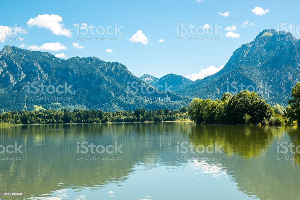 Forggensee at Fuessen stock photo