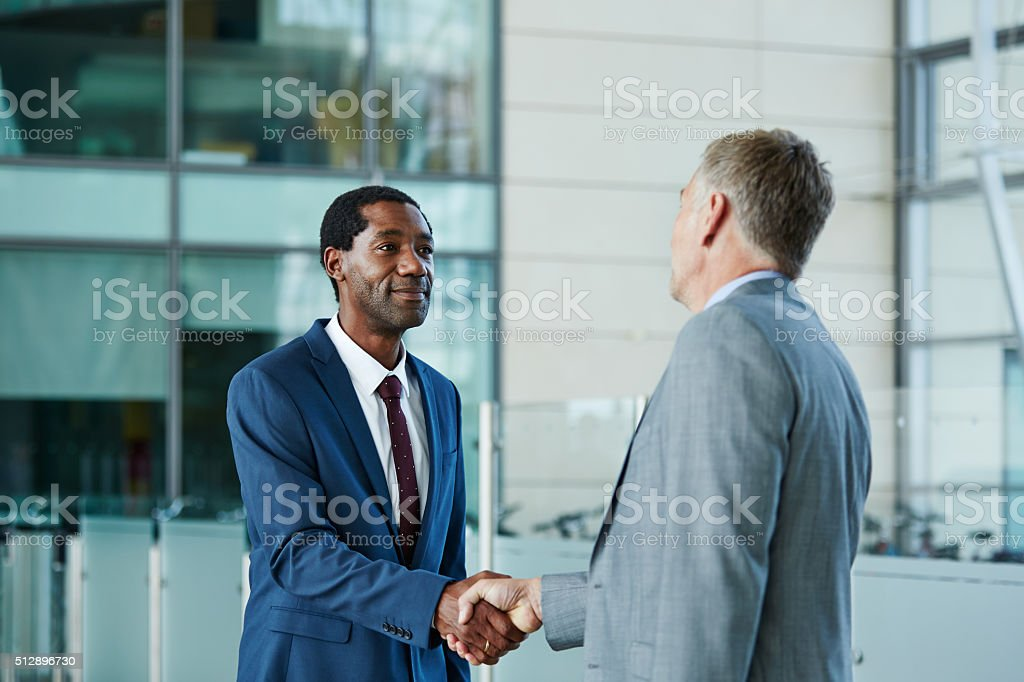 Forging business relationships stock photo