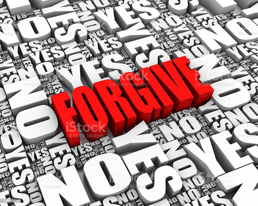 Forgive royalty-free stock photo