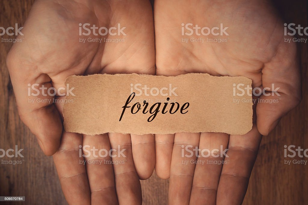 Forgive stock photo