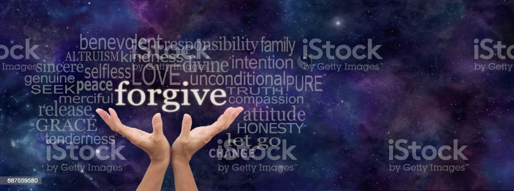 Forgiveness is in your hands stock photo