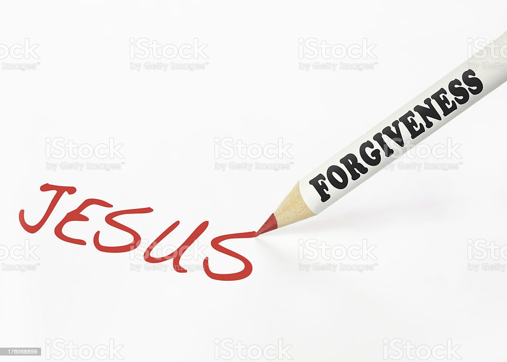 forgiveness is jesus royalty-free stock photo